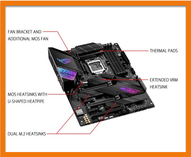 ASUS ROG Strix Z490-E Gaming (Wi-Fi) cooling