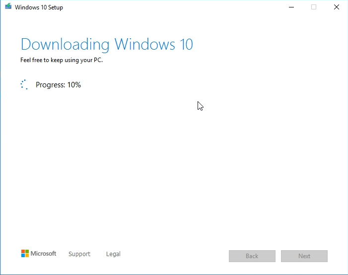 downloading the Windows 10 Bootable image on your USB flash drive