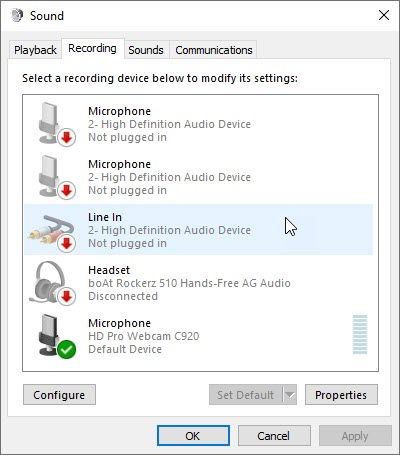 Adjust Sound Settings in Windows 10