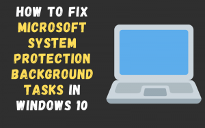 How to fix Microsoft System Protection Background Tasks in Windows 10