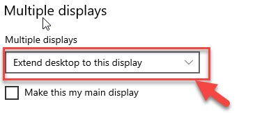 How to Setup Dual Monitors in Windows 10 Extend desktop to this display option