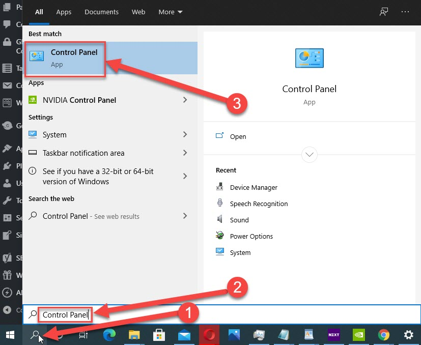Run the troubleshooter and Enter Control Panel in the search box