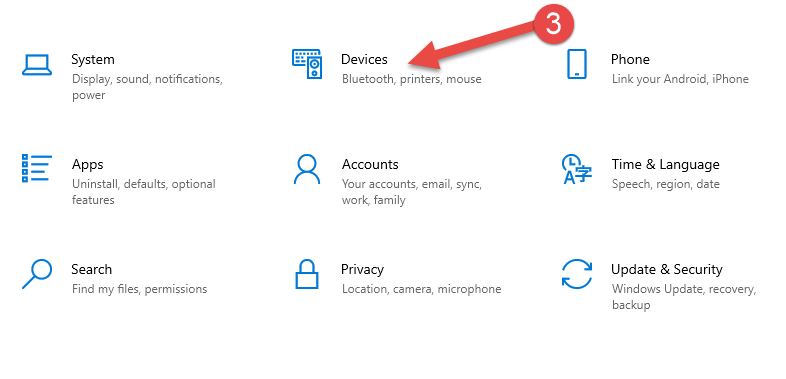 click on devices