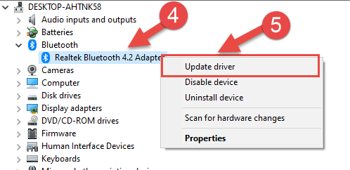 Right Click Bluetooth device