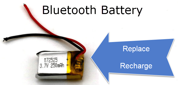 Bluetooth Battery Replace or Recharge