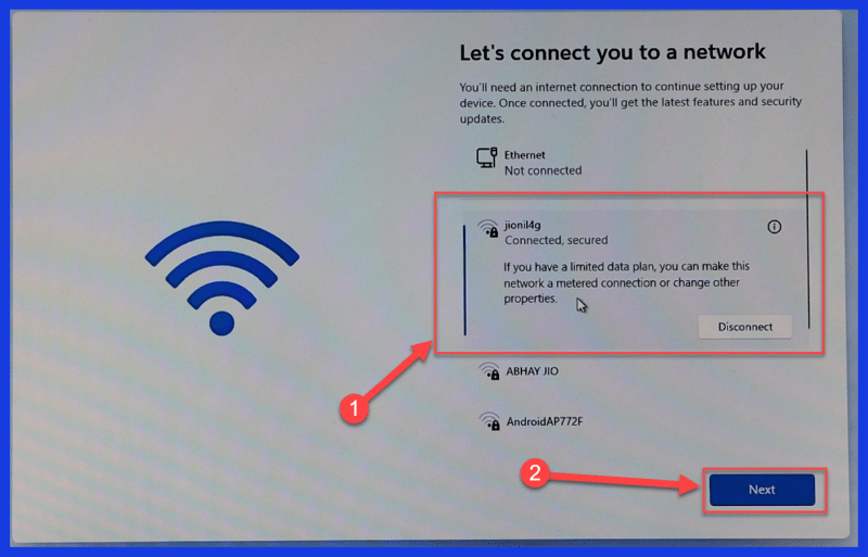 Connect to an Internet connection