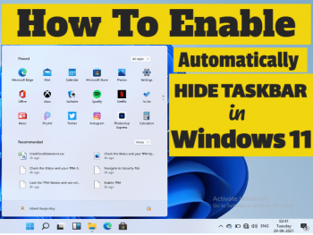 How To Enable Automatically Hide the Taskbar