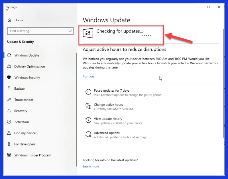 It will automatically start Checking for Updates and downloading the Windows 11 Files