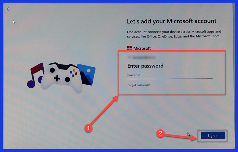 log in with the same Microsoft account